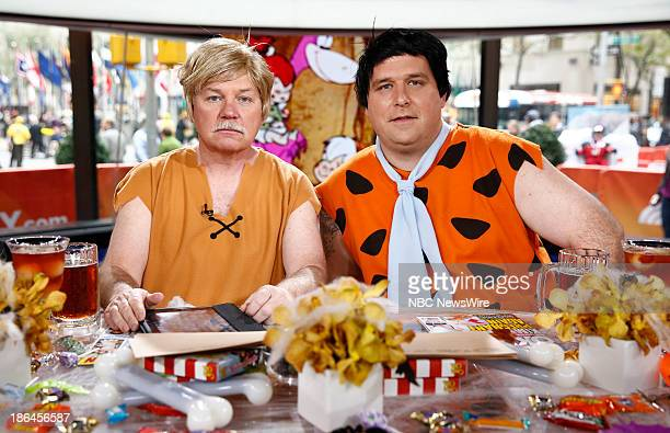 Gerry Ulrich as Barney Rubble and Gerard Marrone as Fred Flintstone appear on NBC News' Today show