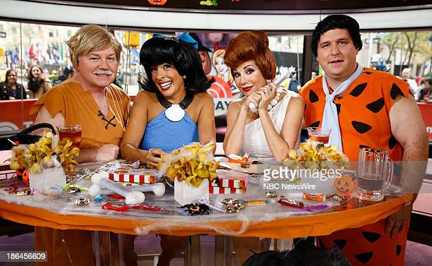 Gerry Ulrich as Barney Rubble Hoda Kotb as Betty Rubble Kathie Lee Gifford as Wilma Flintstone and Gerard Marrone as Fred Flintstone appear on NBC...