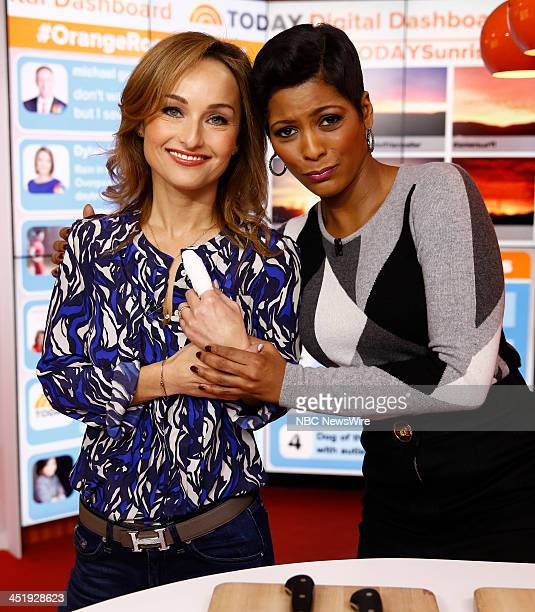 Giada de Laurentiis and Tamron Hall appear on NBC News' 'Today' show
