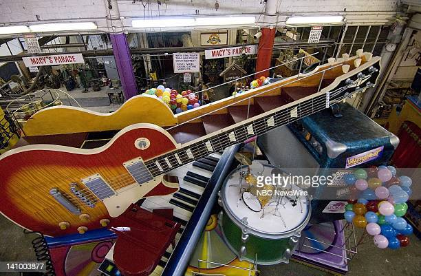 Gibson Guitar Float Floats get tested in preparation for Macy's Thanksgiving Day Parade to air on NBC on November 22 2007 Photo taken on November 13...