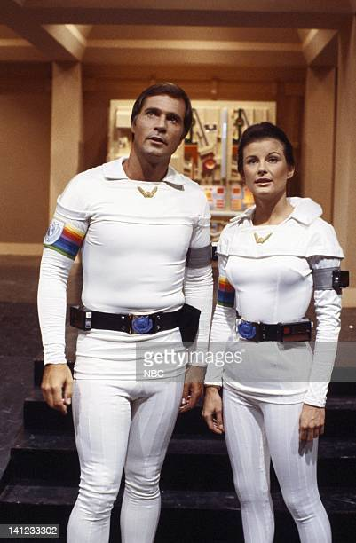 Gil Gerard as Captain William Buck Rogers Juanin Clay as Major Marla Landers Photo by Gary Null/NBCU Photo Bank