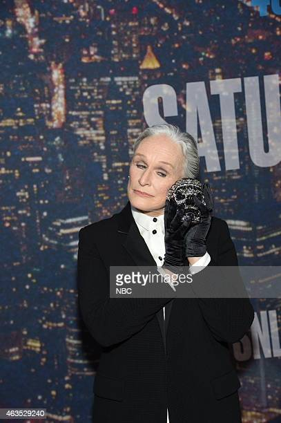 Glenn Close walk the red carpet at the SNL 40th Anniversary Special at 30 Rockefeller Plaza in New York NY on February 15 2015