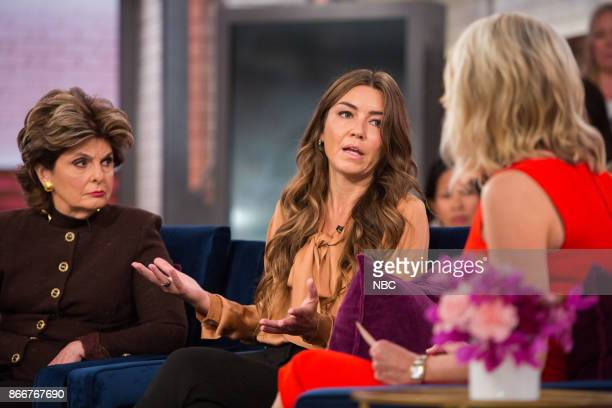 Pictured: Gloria Allred, Mimi Haleyi and Megyn Kelly on Wednesday, October 25, 2017 --