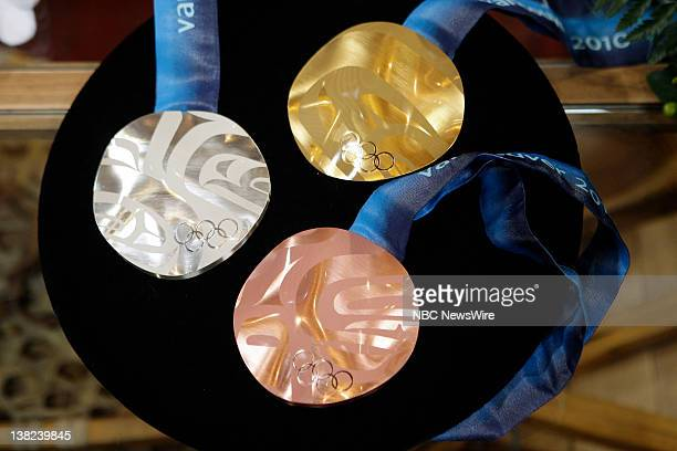 Gold silver and bronze olympic metals on February 12 2010