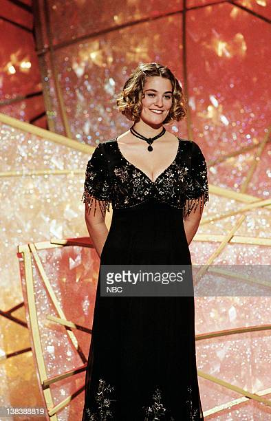 Golden Globe presenter Kate Winslett on stage during the 55th Annual Golden Globe Awards held at the Beverly Hilton Hotel on January 18 1998