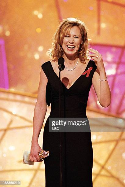 Golden Globe winner for best performance by an Actress In A Leading Role Drama Series Chicago Hope Christine Lahti on stage during the 55th Annual...