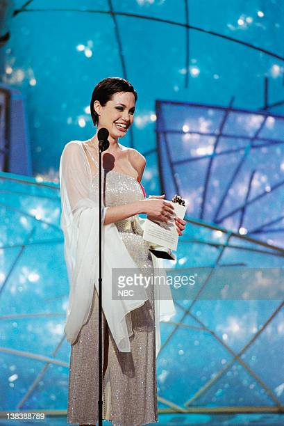 Golden Globe winner for best performance by an Actress In A Supporting Role Series MiniSeries Or Television Movie 'George Wallace' Angelina Jolie on...