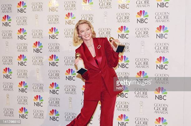 Golden Globe winner for best Television Series Musical Or Comedy Cybill Cybill Shepherd in the photo room during the 53rd Annual Golden Globe Awards...