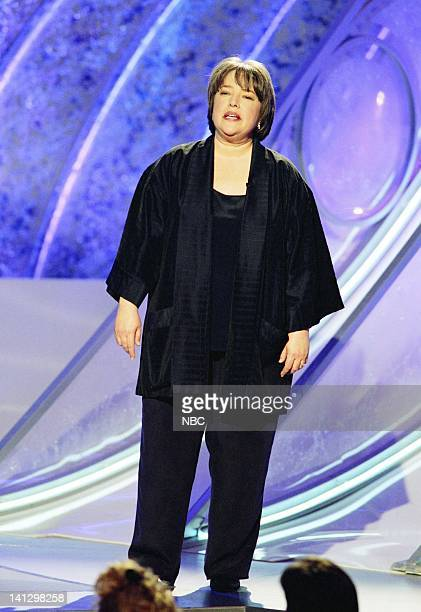 Golden Globes presenter Kathy Bates on stage during the 53rd Annual Golden Globe Awards held at the Beverly Hilton Hotel on January 21 1996 Photo by...