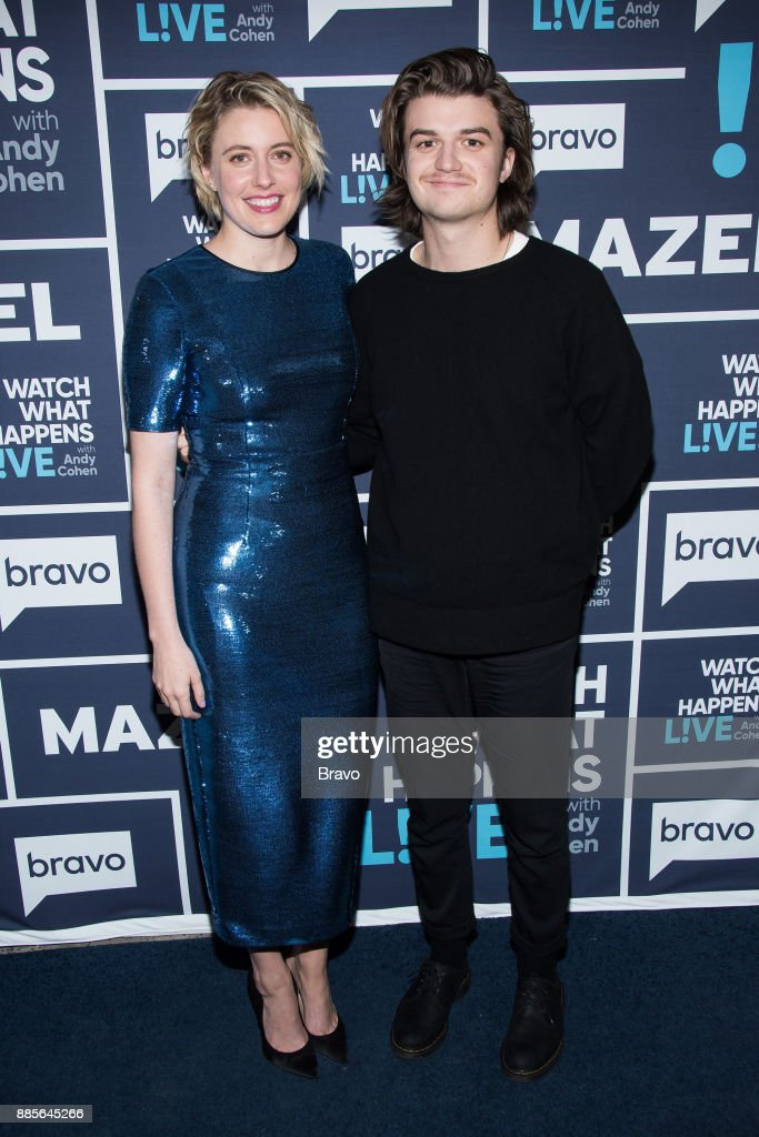 Greta Gerwig and Joe Keery --