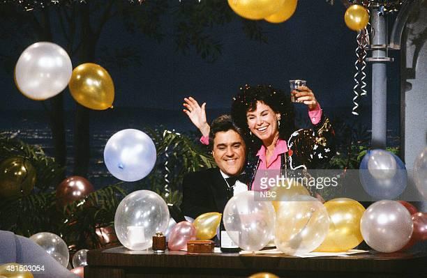 Guest host Jay Leno and wife Mavis Leno on December 31 1990