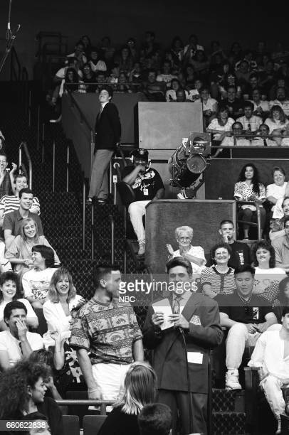 Guest host Jay Leno is seen in the audience during the 'Trapezoid Quiz' on June 18 1991