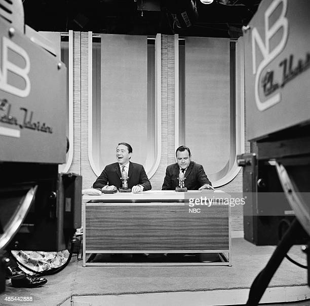 Guest host Merv Griffin actor Jonathan Winters in 1962