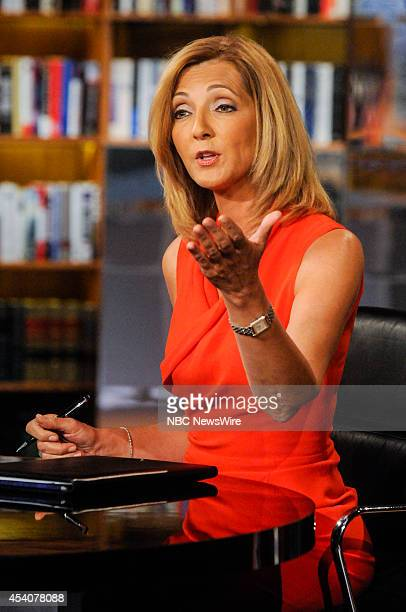 Guest moderator Chris Jansing appears on Meet the Press in Washington DC Sunday August 24 2014