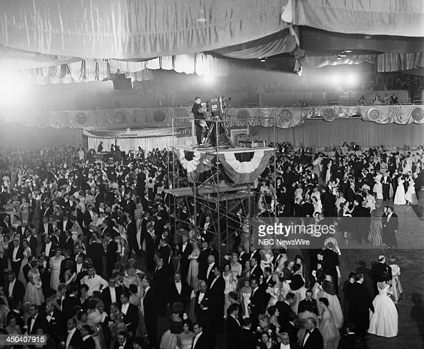 Guests at the inaugural ball during the Inauguration of President John F Kennedy on January 20 1961 in Washington DC