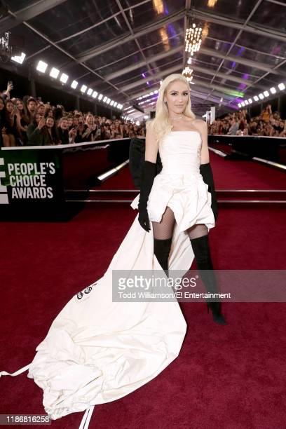 Pictured: Gwen Stefani arrives to the 2019 E! People's Choice Awards held at the Barker Hangar on November 10, 2019. -- NUP_188990