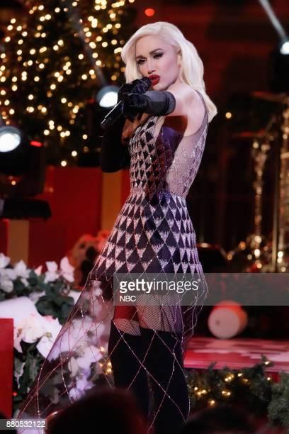 Gwen Stefani rehearses for the 2017 Christmas in Rockefeller Center