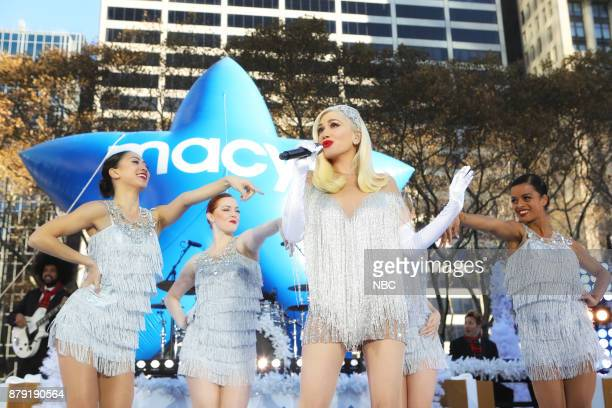 Gwen Stefani rehearses for the 2017 Macy's Thanksgiving Day Parade