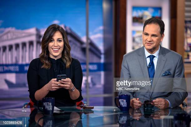 Hallie Jackson NBC News Chief White House Correspondent and David Brody Chief Political Analyst CBN News appear on Meet the Press in Washington DC...