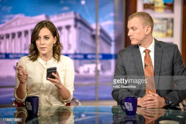 Hallie Jackson NBC News Chief White House Correspondent and Tim Alberta Chief Political Correspondent Politico Magazine appear on Meet the Press in...