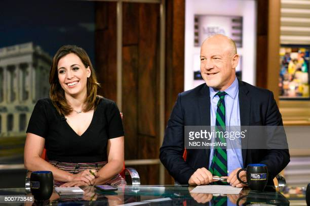 Hallie Jackson NBC News Chief White House Correspondent and Mark Leibovich Chief National Correspondent The New York Times Magazine appear on Meet...