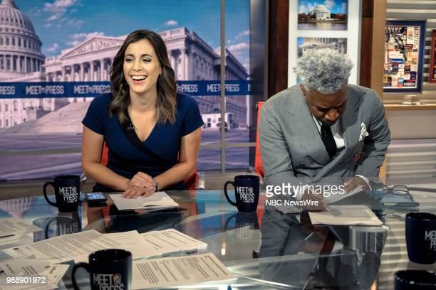 Hallie Jackson NBC News Chief White House Correspondent and Cornell Belcher Democratic Pollster NBC News Political Analyst appear on Meet the Press...