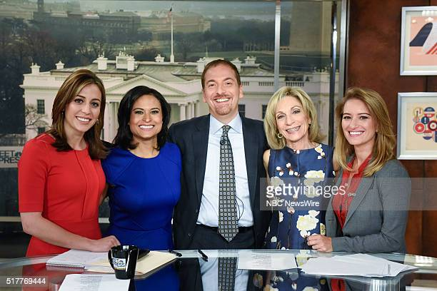 Hallie Jackson NBC News Correspondent Kristen Welker NBC News White House Correspondent moderator Chuck Todd Andrea Mitchell NBC News Chief Foreign...