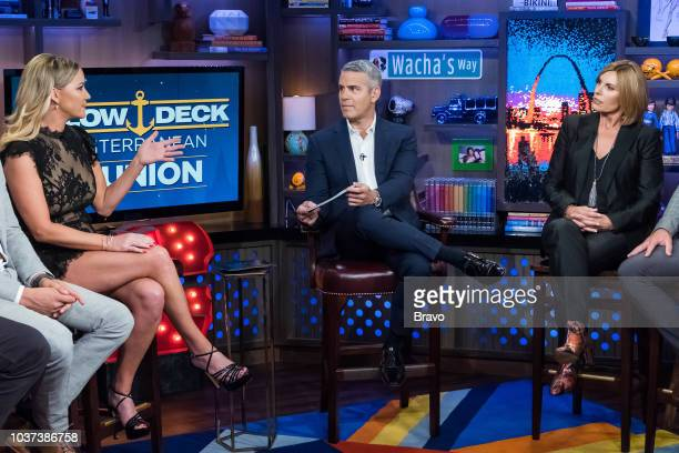 Hannah Ferrier Andy Cohen and Sandy Yawn