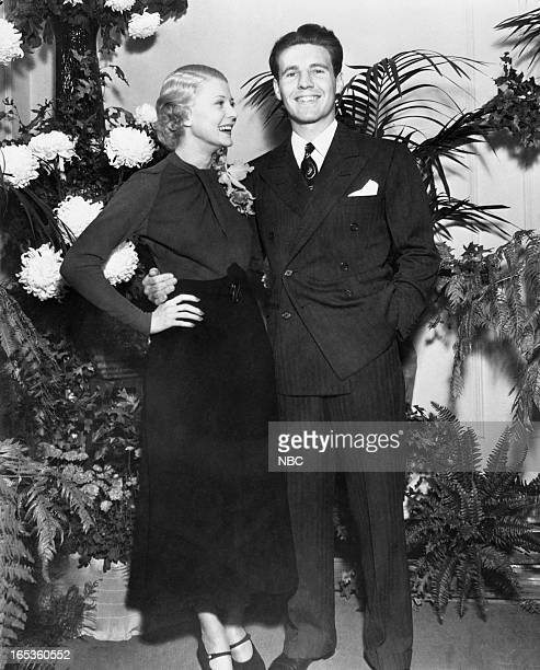 Harriet Hilliard Ozzie Nelson at their wedding held at Ozzie's mother's house in Hackensack NJ on October 8 1935