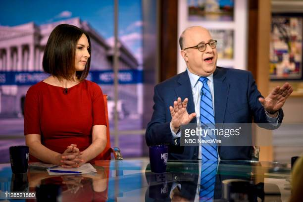 Heidi Przybyla NBC News National Political Reporter and John Podhoretz Editor Commentary Columnist The New York Post appear on Meet the Press in...