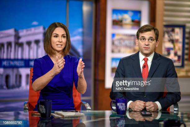 Heidi Przybyla NBC News National Political Reporter and Peter Baker Chief White House Correspondent The New York Times NBC News Analyst appear on...