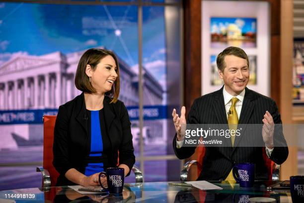 Heidi Przybyla NBC News National Political Reporter and Rich Lowry Editor National Review appear on Meet the Press in Washington DC Sunday May 19 2019