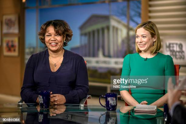 Helene Cooper New York Times and Elise Jordan MSNBC appear on Meet the Press in Washington DC Sunday Jan 14 2018