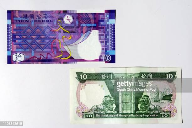 Pictured here are the new tendollar notes and old green tendollar note 10 September 2002