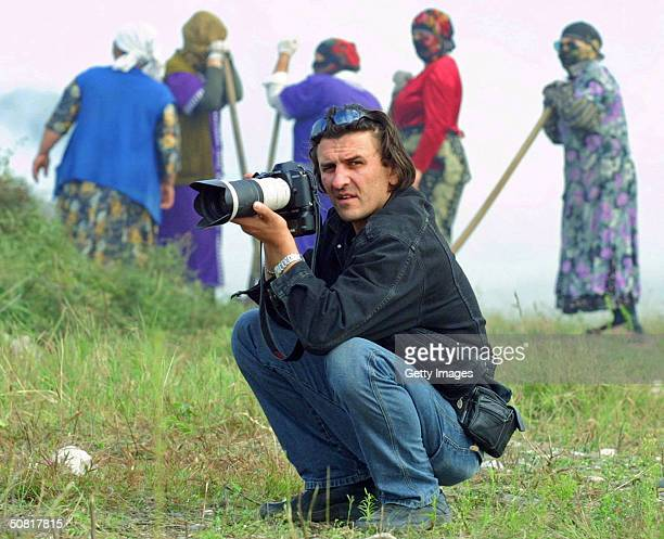 Pictured here is Reuters news agency journalist Adlan Khasanov who was fatally wounded in a blast during Victory Day celebrations May 9 2004 at the...