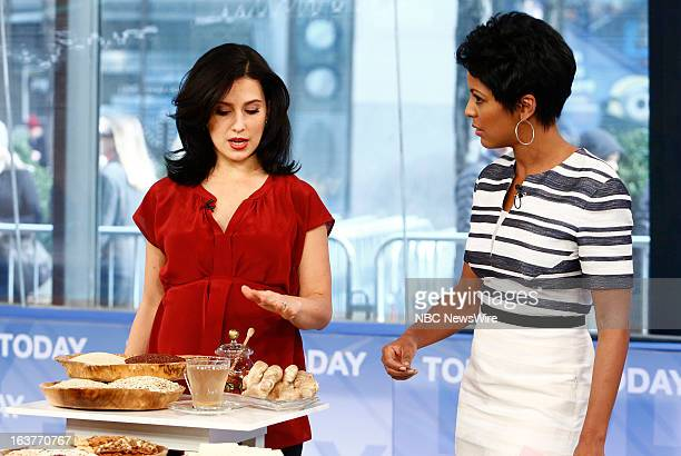 Hilaria Baldwin and Tamron Hall appear on NBC News' 'Today' show
