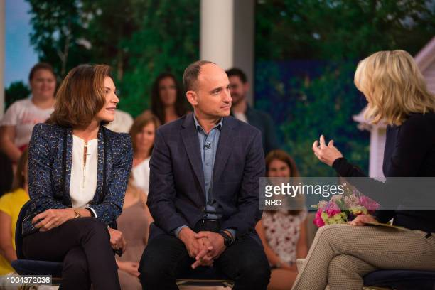 Pictured: Hilary Farr, David Visentin and Megyn Kelly on Monday, July 23, 2018 --