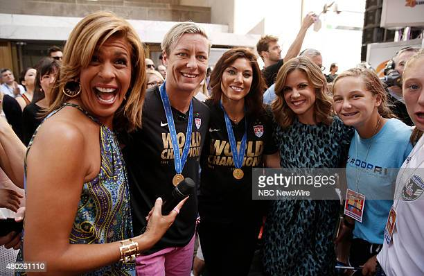 Hoda Kotb Abby Wambach Hope Solo and Natalie Morales appear on NBC News' Today show