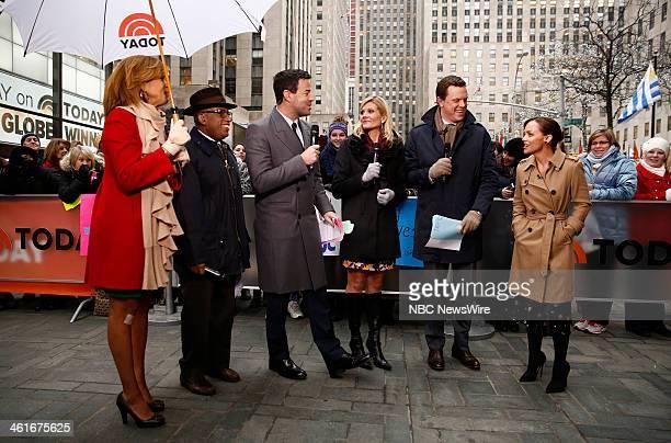Hoda Kotb Al Roker Carson Daly Kate Snow Willie Geist and Christina Ricci appear on NBC News' Today show