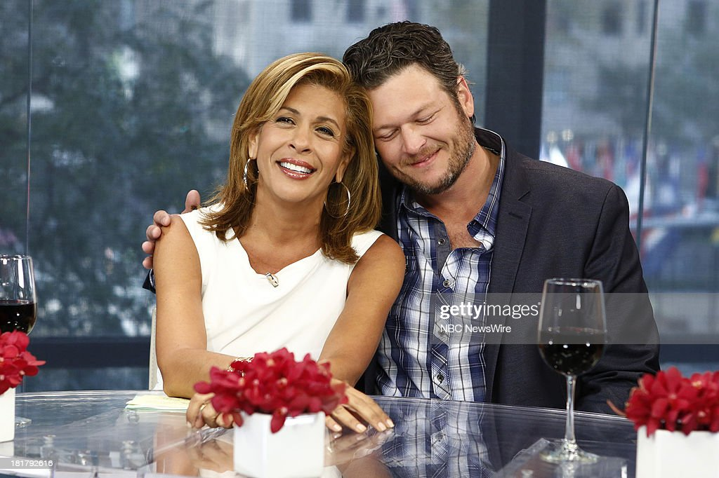 Hoda Kotb and Blake Shelton appear on NBC News' 'Today' show --