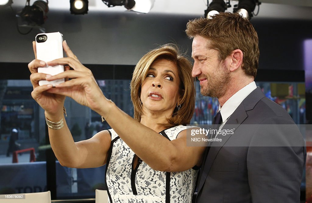 Hoda Kotb and Gerard Butler appear on NBC News' 'Today' show --