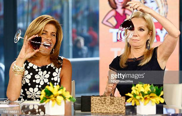 Hoda Kotb and Kathie Lee Gifford appear on NBC News' Today show on April 1 2013