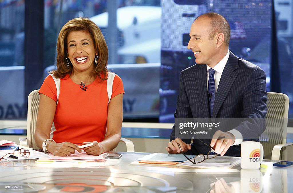 Hoda Kotb and Matt Lauer appear on NBC News' 'Today' show --