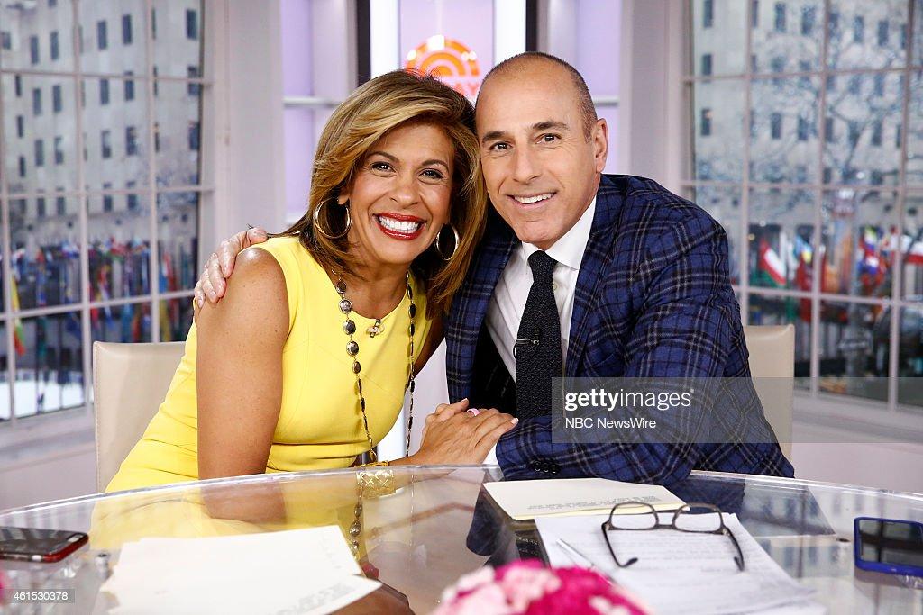 Hoda Kotb and Matt Lauer appear on NBC News' 'Today' show --