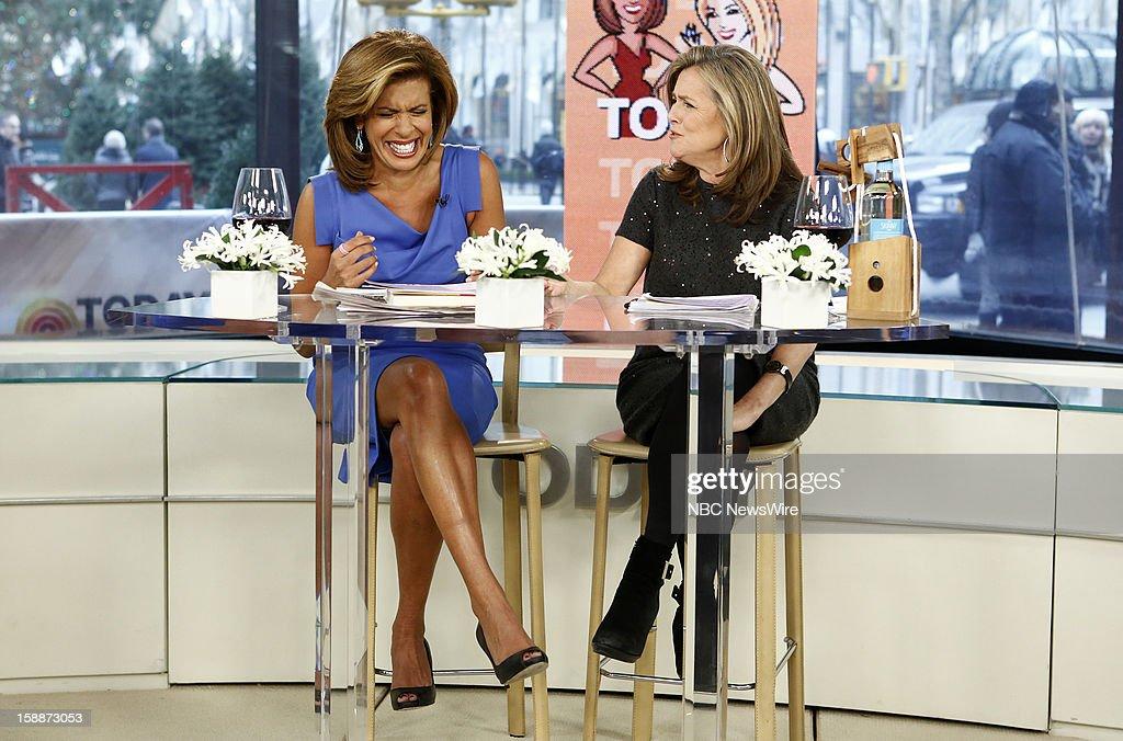 Hoda Kotb and Meredith Vieira appear on NBC News' 'Today' show --