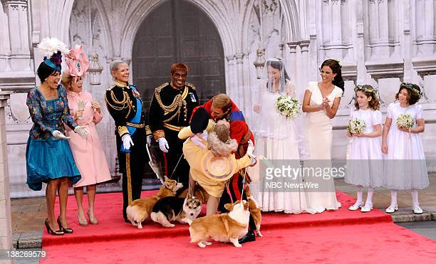 Hoda Kotb as Princess Eugenie Kathie Lee Gifford as Princess Beatrice Savannah Guthrie as Prince Charles Al Roker as Prince Harry Meredith Vieira as...