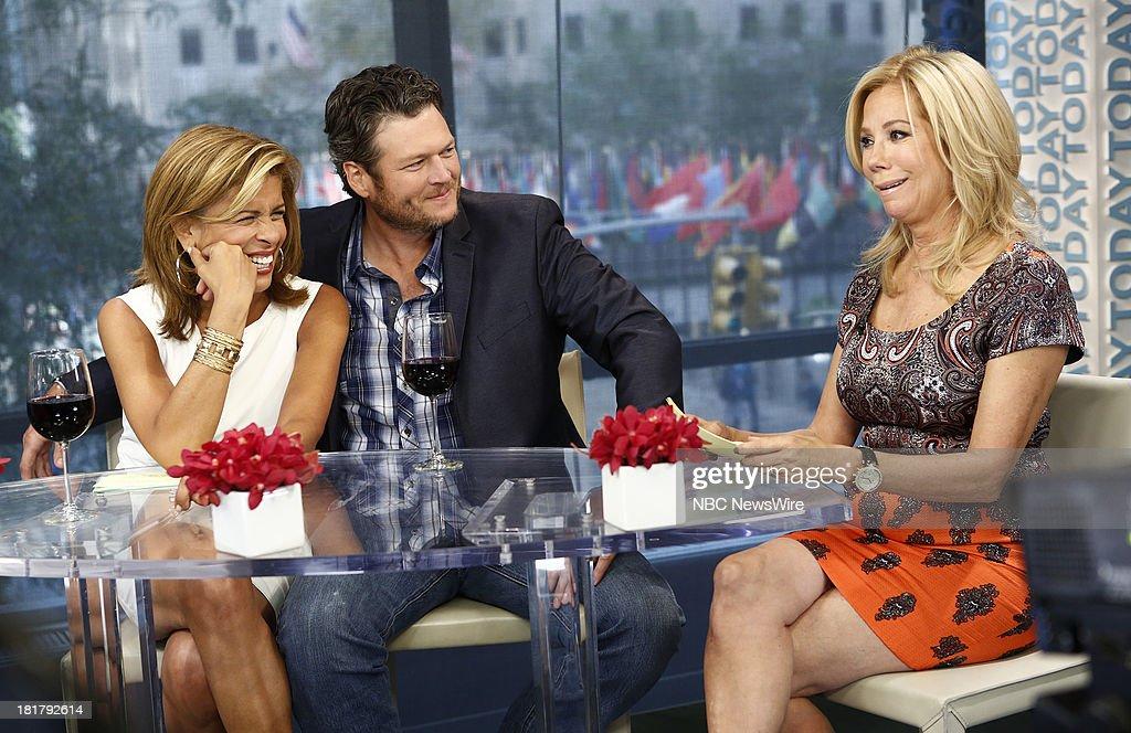 Hoda Kotb, Blake Shelton and Kathie Lee Gifford appear on NBC News' 'Today' show --