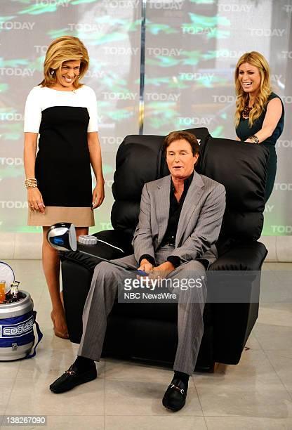 Hoda Kotb Bruce Jenner and Jill Martin appear on NBC News' 'Today' show