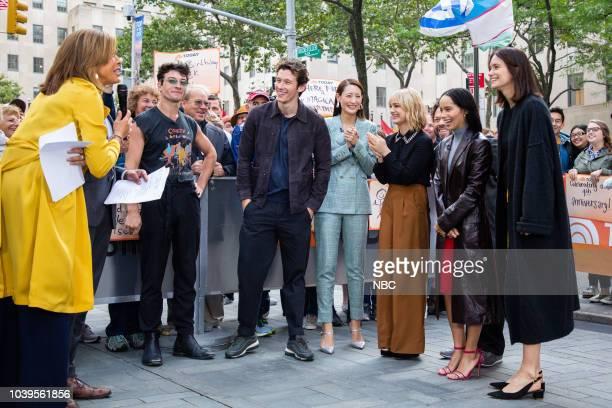 Hoda Kotb cast of Fantastic Beasts Ezra Miller Callum Turner Claudia Kim Alison Sudol Dan Fogler Zoë Kravitz Katherine Waterston on Monday September...