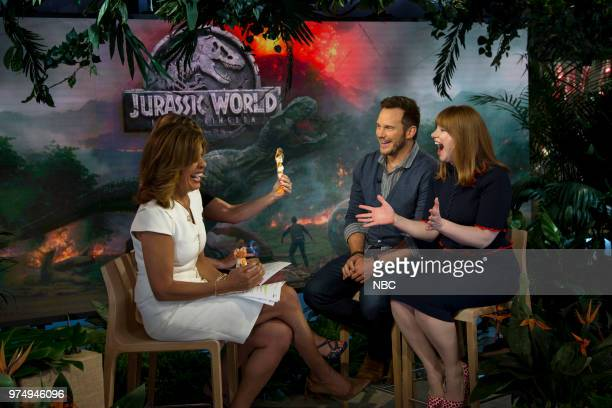 Hoda Kotb Chris Pratt and Bryce Dallas Howard on Thursday June 14 2018